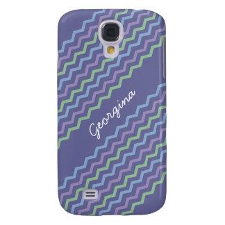 Chevron Diagonal Zigzags Trio Spring Colors Galaxy S4 Case