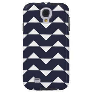 Chevron Galaxy S4 Case - Navy Blue Pattern