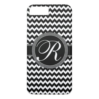 Chevron Monogram Basic Black and White iPhone 7 Plus Case