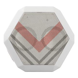 Chevron On A Neutral Background White Bluetooth Speaker