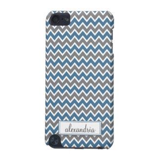 Chevron Pattern iPod Touch Case (blue)
