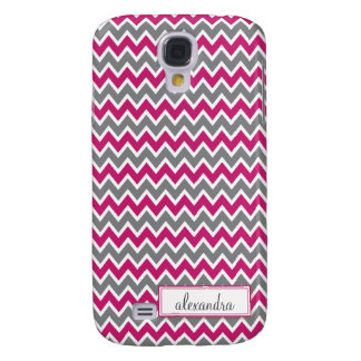 Chevron Pern (fuchsia) Galaxy S4 Case