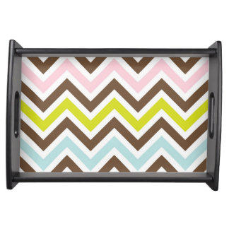 Chevron Print Serving Tray/Plate Serving Tray