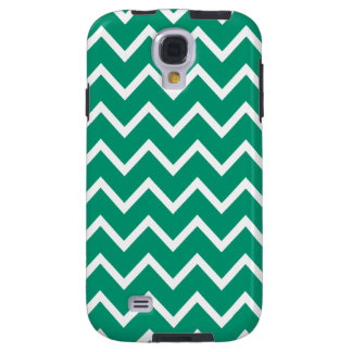 Chevron Samsung Galaxy S4 Case in Emerald Green