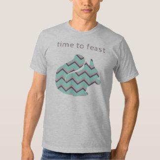 Chevron Squirrel - Time to Feast T Shirt