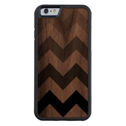 chevron stripes carved® walnut iPhone 6 bumper case