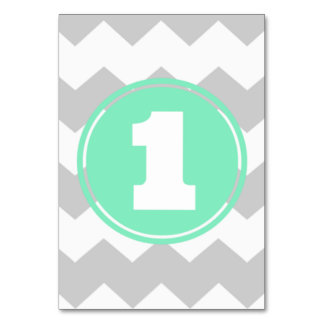 Chevron Table Number Table Card