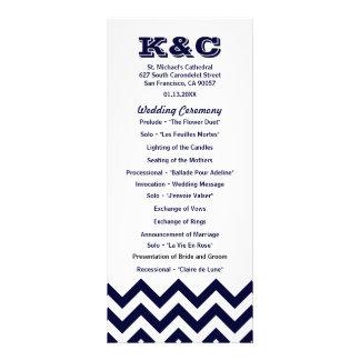 Chevron Wedding Programs Custom Rack Cards