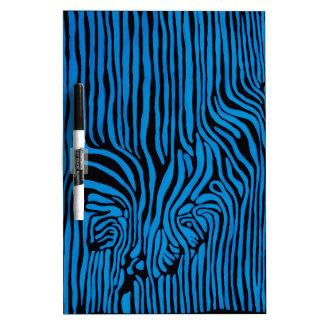 Chevron Zebra turquoise Dry Erase Board