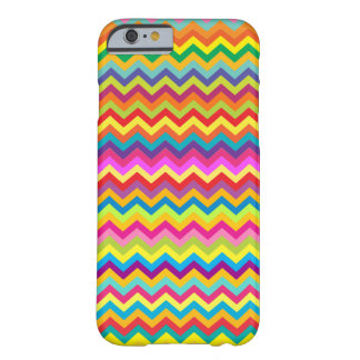 Chevron zigzag pattern multi-coloured iPhone 6 Barely There iPhone 6 Case