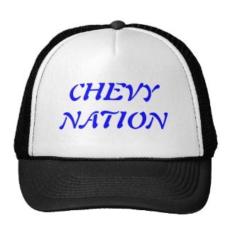 CHEVY NATION MESH HATS