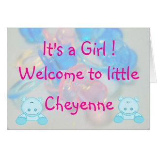 Cheyenne Card