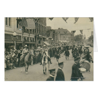 Cheyenne Frontier Days parade. Card