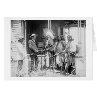 Cheyenne Men Converse with White Card