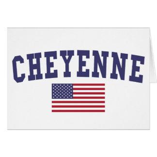 Cheyenne US Flag Card