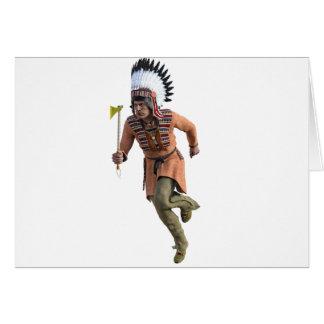 Cheyenne Warrior Chief Running Card