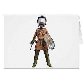 Cheyenne Warrior Chief Standing His Ground Card