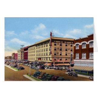 Cheyenne Wyoming 1940 Along 16th Street Card