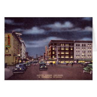 Cheyenne Wyoming Capitol Avenue Card