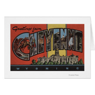 Cheyenne, Wyoming - Large Letter Scenes Card