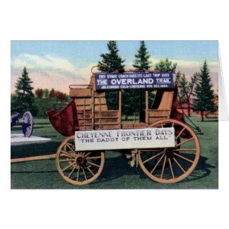 Cheyenne Wyoming Vintage Frontier Days Coach Card