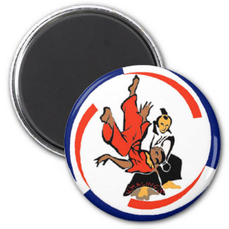 Chi in Aikido 6 Cm Round Magnet