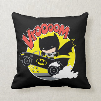 Chibi Batman In The Batmobile Cushion