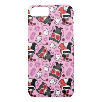 Chibi Catwoman, Harley Quinn, & Kittens Pattern iPhone 8/7 Case