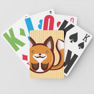 Chibi Fox Bicycle Playing Cards