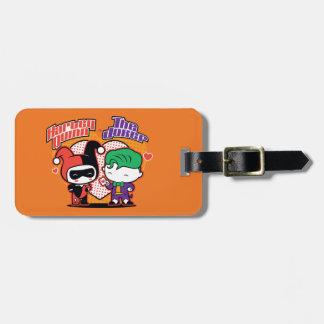 Chibi Harley Quinn & Chibi Joker Hearts Luggage Tag