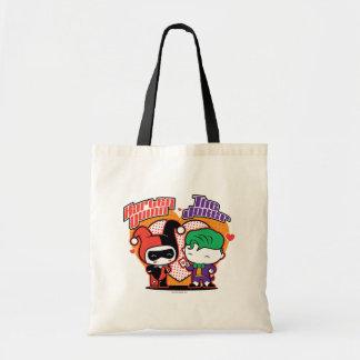 Chibi Harley Quinn & Chibi Joker Hearts Tote Bag