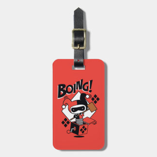 Chibi Harley-Quinn-In-A-Box With Hammer Luggage Tag