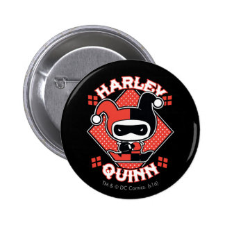 Chibi Harley Quinn Splits 6 Cm Round Badge