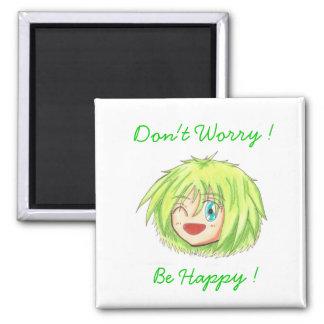 Chibi Head 'Be Happy' Izumi Magnet