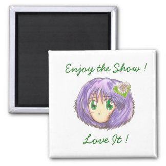 Chibi Head Yuriko 'Enjoy the Show' Magnet