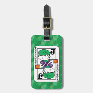 Chibi Joker Playing Card Luggage Tag