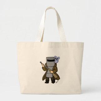 chibi ned kelly large tote bag