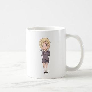 Chibi School Girl Basic White Mug