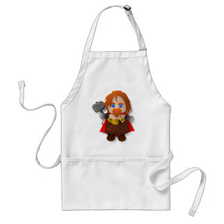 Chibi Thor with Hammer Standard Apron