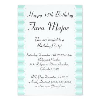 Chic Aqua Scallop Birthday Party Invitation