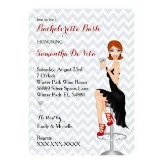 Chic Bachelorette Bash Custom Party Invitation