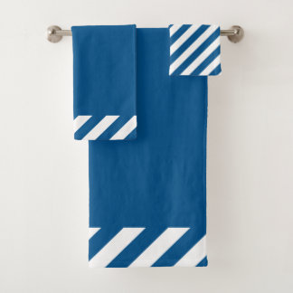 CHIC BATH TOWEL SET_MODERN NAVY STRIPES