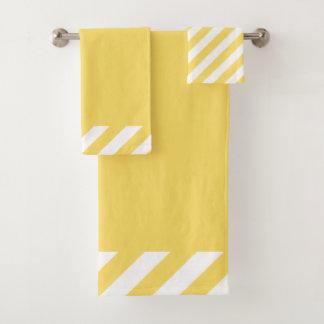 CHIC BATH TOWEL SET_MODERN YELLOW STRIPES