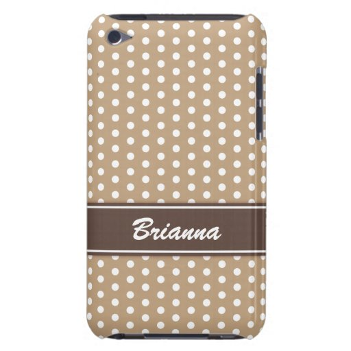 Chic beige and brown polka dots iPod case iPod Touch Case