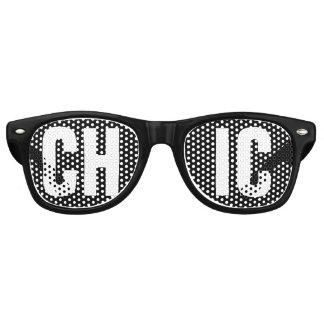 'CHIC' Black and White Party Retro Sunglasses