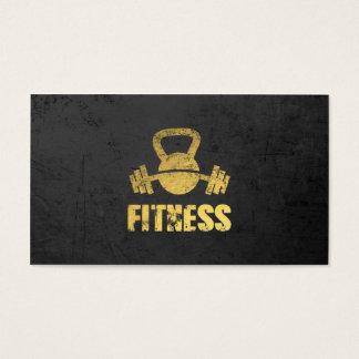Chic Black Gold Fitness Trainer Kettlebell Barbell