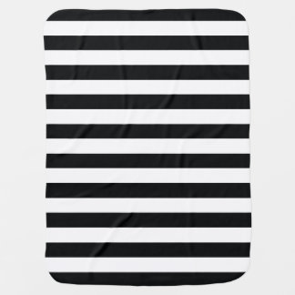 Chic Black & White Stripes Baby Blanket