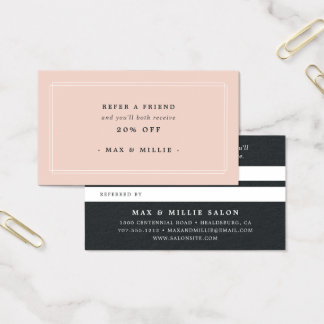 Chic Blush | Referral Business Card