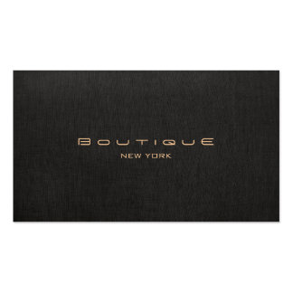 Chic Boutique Faux Black Linen Professional Unique Business Card Templates