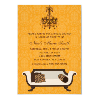 Chic Bridal Shower Custom Announcements